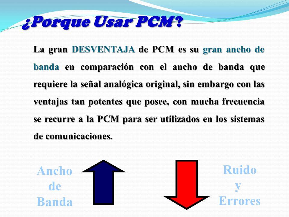 ¿Porque Usar PCM Ruido Ancho y de Errores Banda