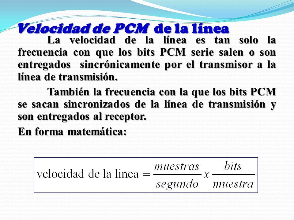 Velocidad de PCM de la línea