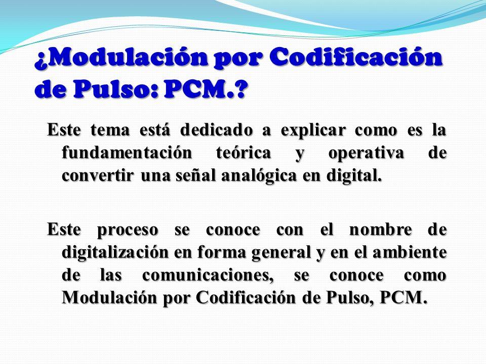 ¿Modulación por Codificación de Pulso: PCM.