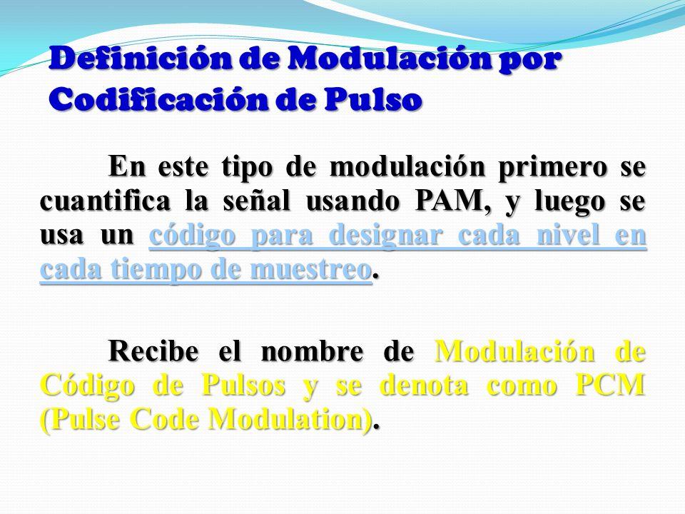 Definición de Modulación por Codificación de Pulso