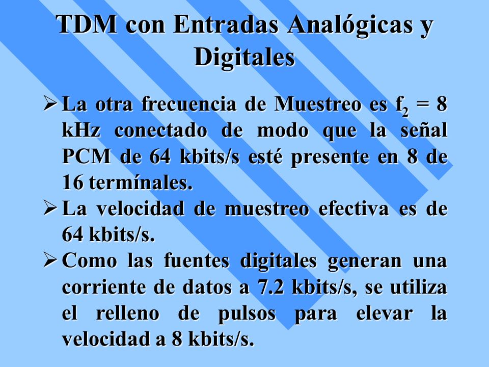 TDM con Entradas Analógicas y Digitales