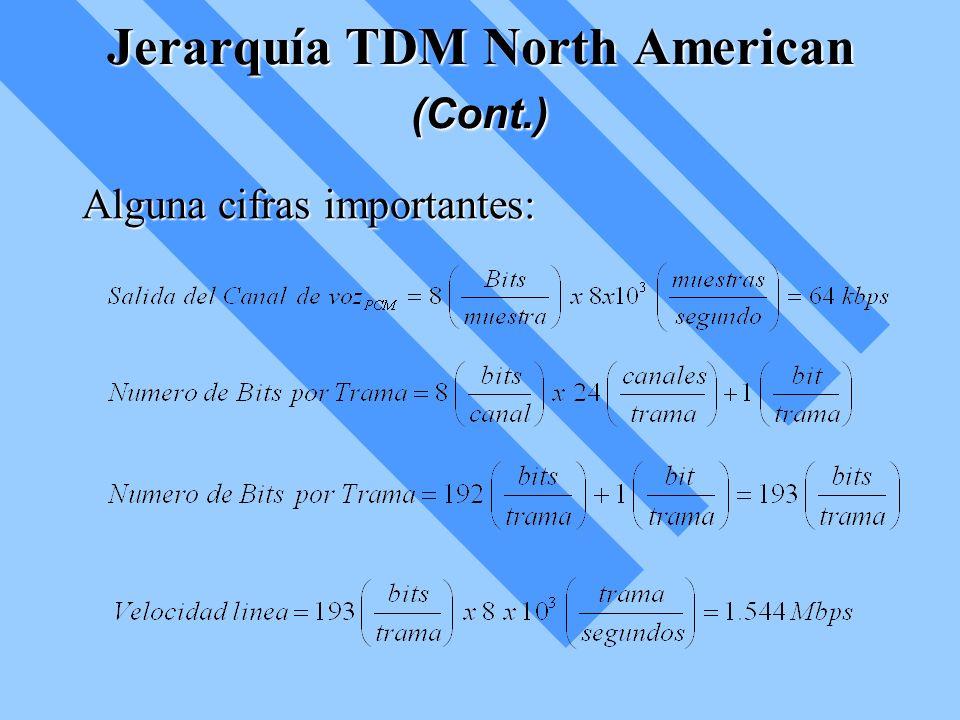 Jerarquía TDM North American (Cont.)