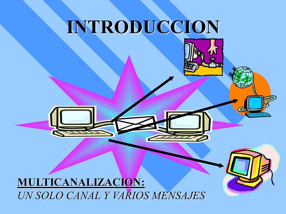 INTRODUCCION MULTICANALIZACION: UN SOLO CANAL Y VARIOS MENSAJES