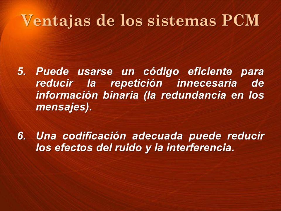 Ventajas de los sistemas PCM