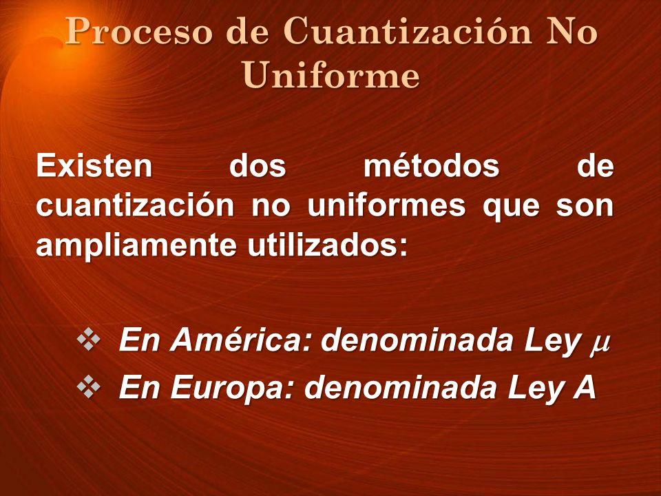 Proceso de Cuantización No Uniforme