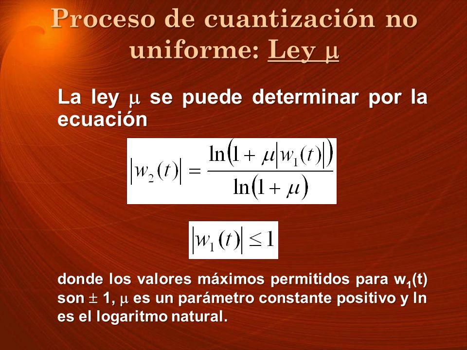 Proceso de cuantización no uniforme: Ley 