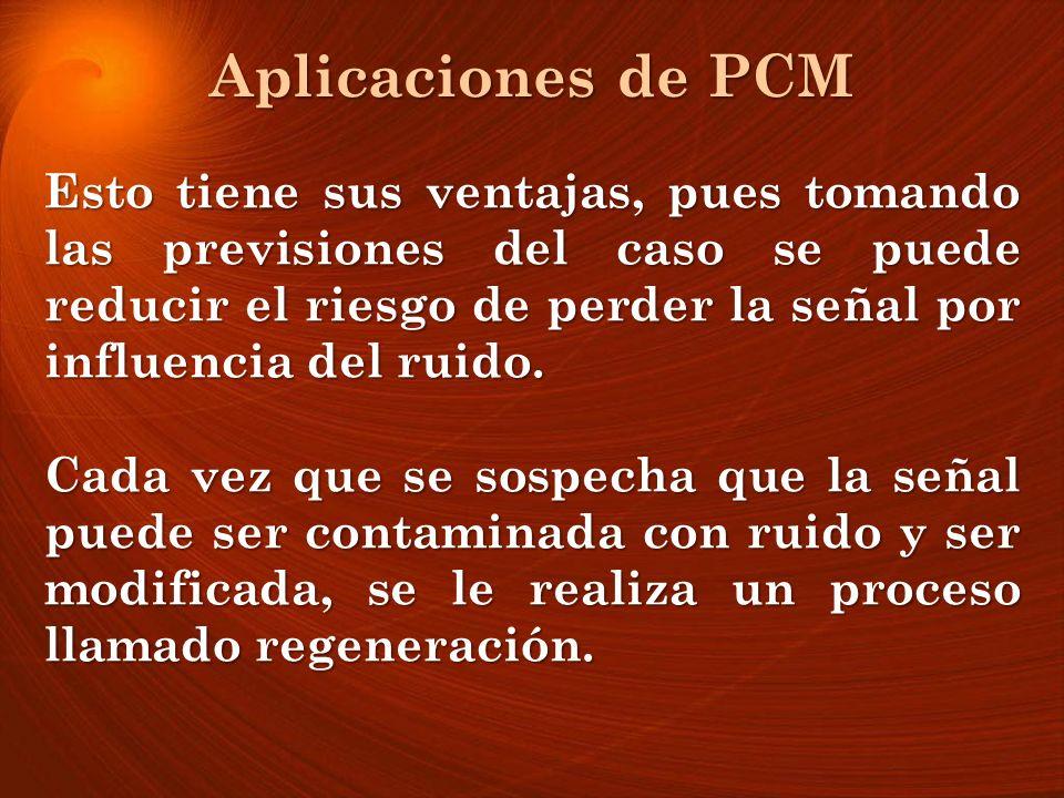 Aplicaciones de PCM