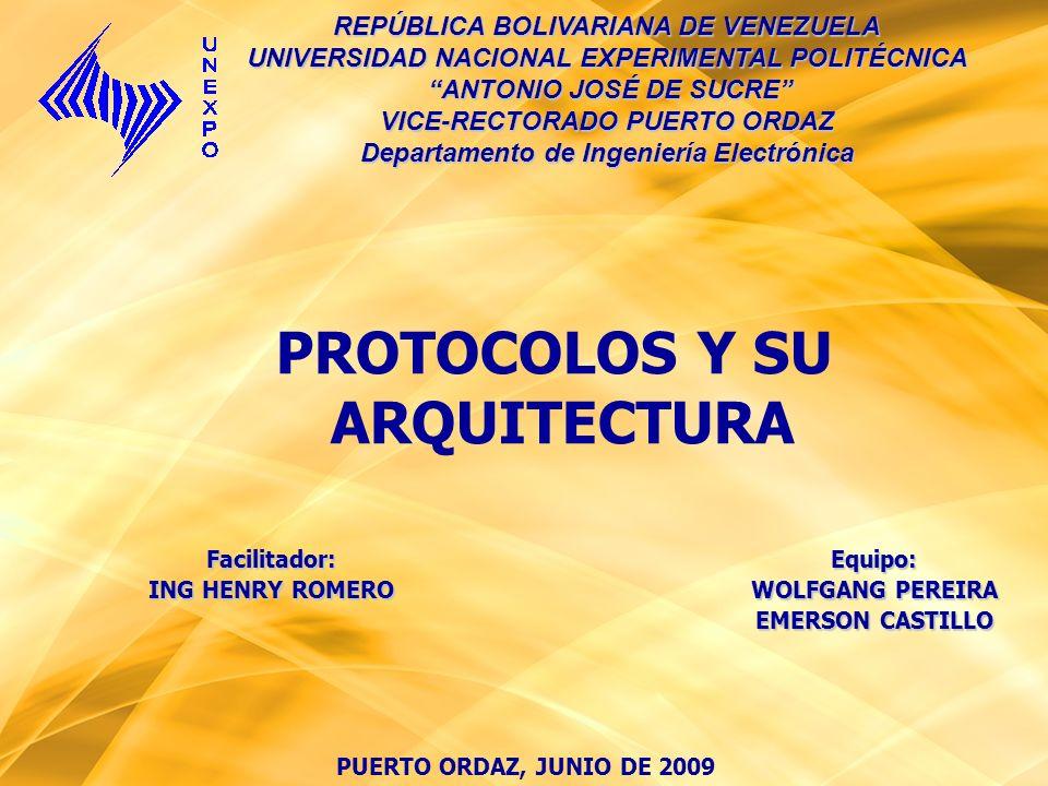 PROTOCOLOS Y SU ARQUITECTURA
