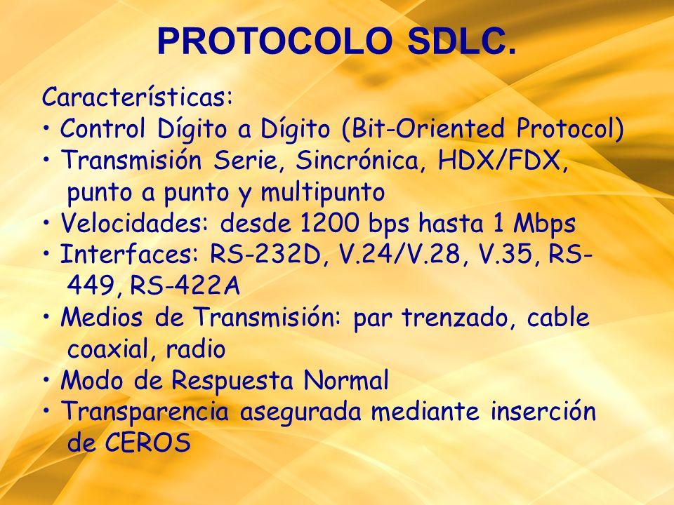 PROTOCOLO SDLC. Características: