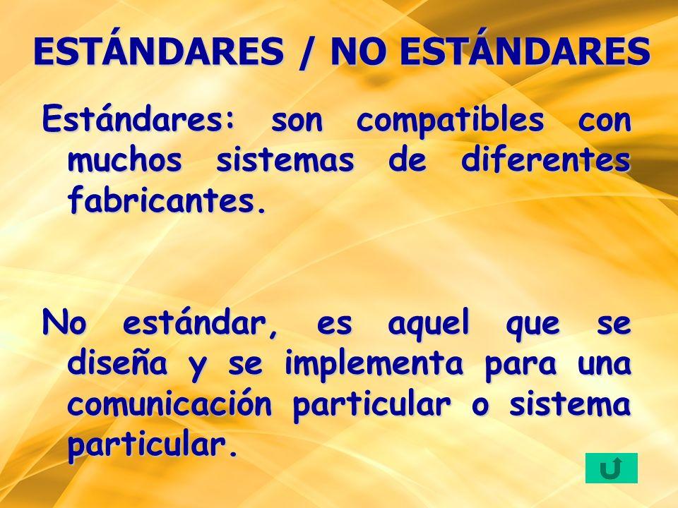 ESTÁNDARES / NO ESTÁNDARES