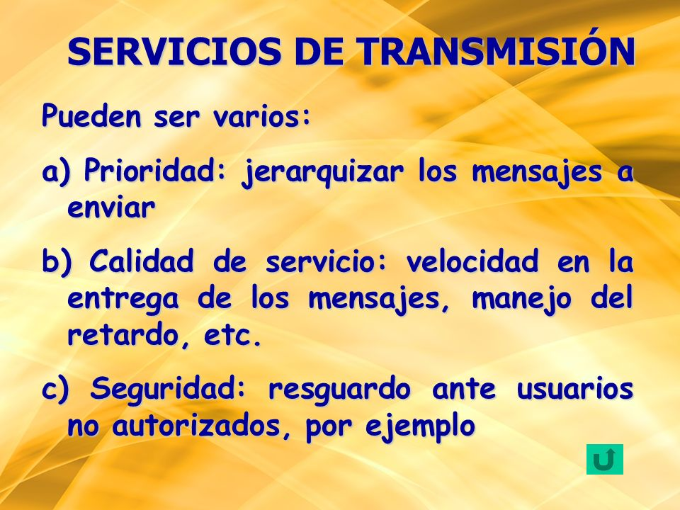 SERVICIOS DE TRANSMISIÓN