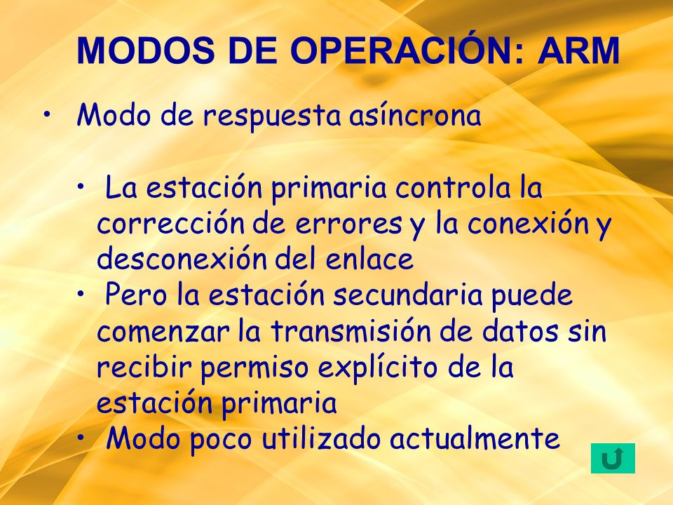 MODOS DE OPERACIÓN: ARM
