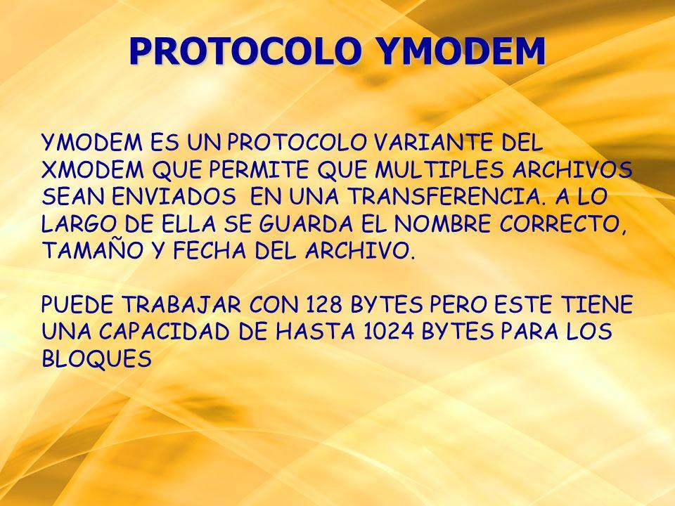 PROTOCOLO YMODEM