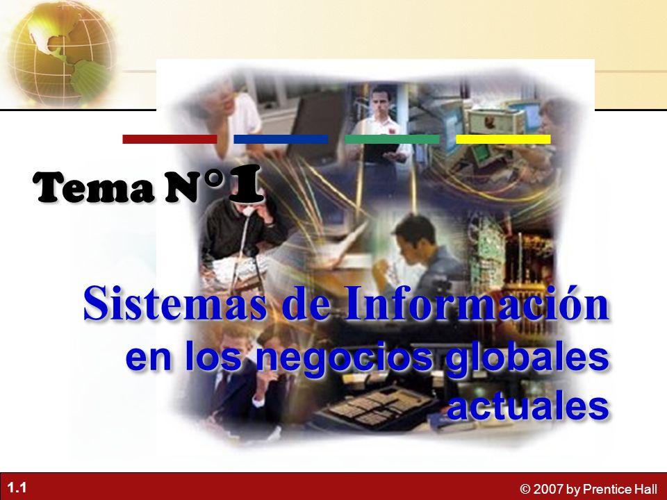 Sistemas de Información en los negocios globales actuales