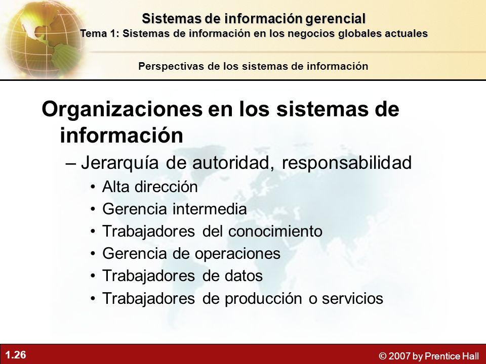 Organizaciones en los sistemas de información