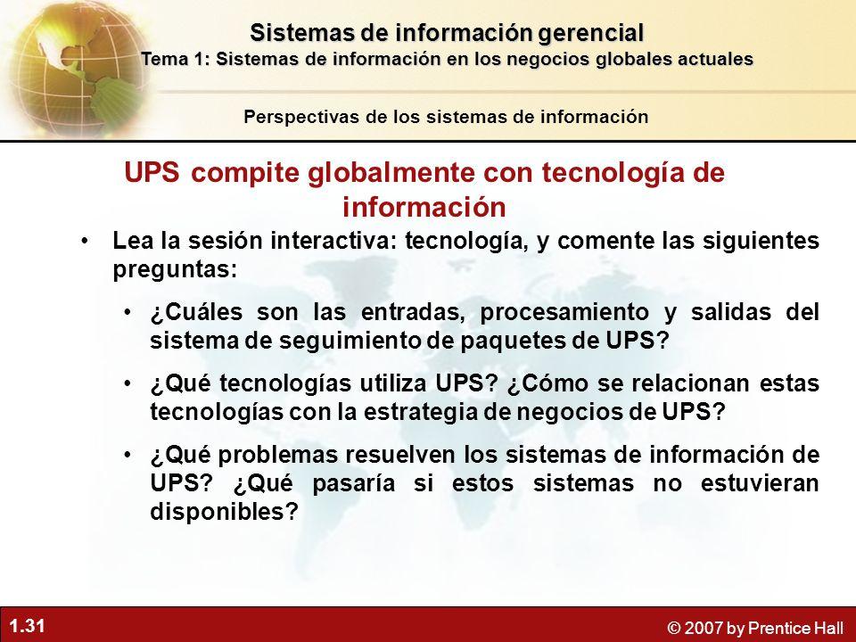 UPS compite globalmente con tecnología de información