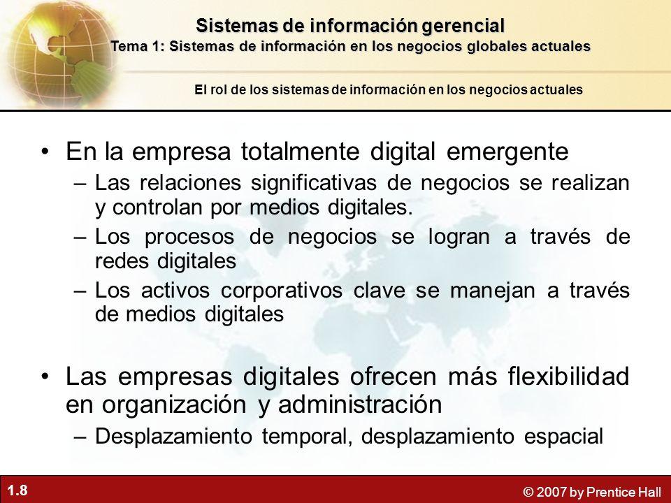 En la empresa totalmente digital emergente
