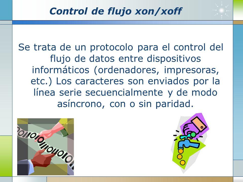 Control de flujo xon/xoff