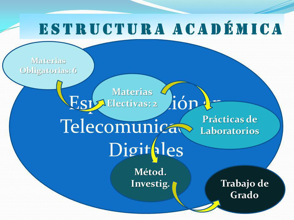 Materias Obligatorias: 6 Prácticas de Laboratorios