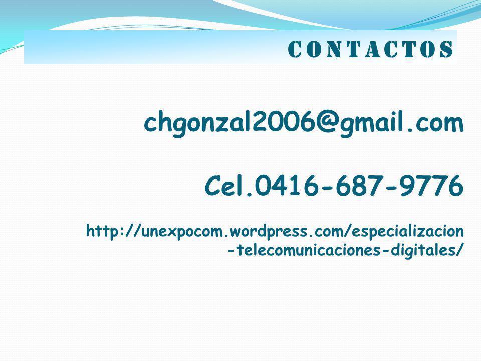 chgonzal2006@gmail.com Cel.0416-687-9776 contactos