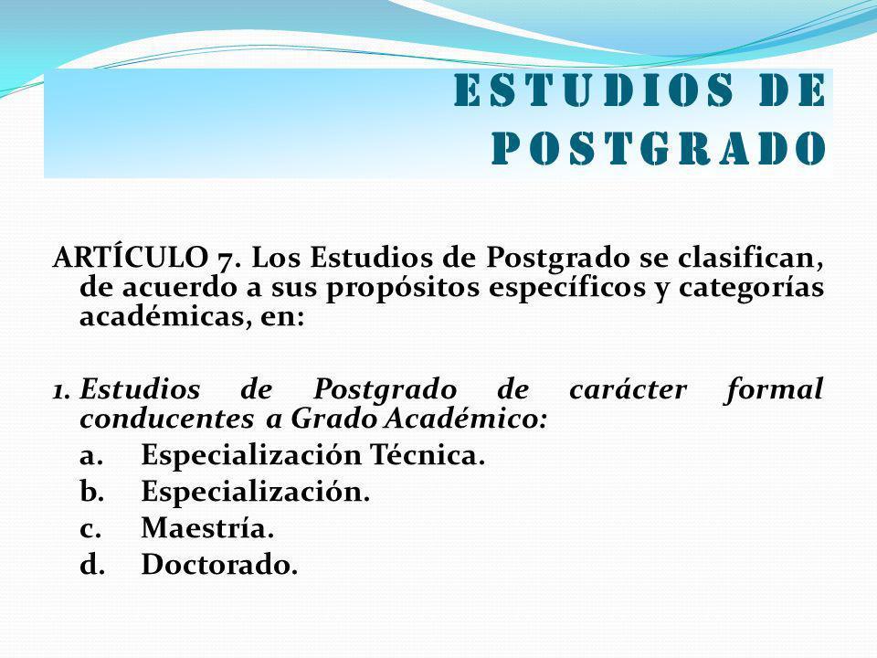Estudios de postgrado
