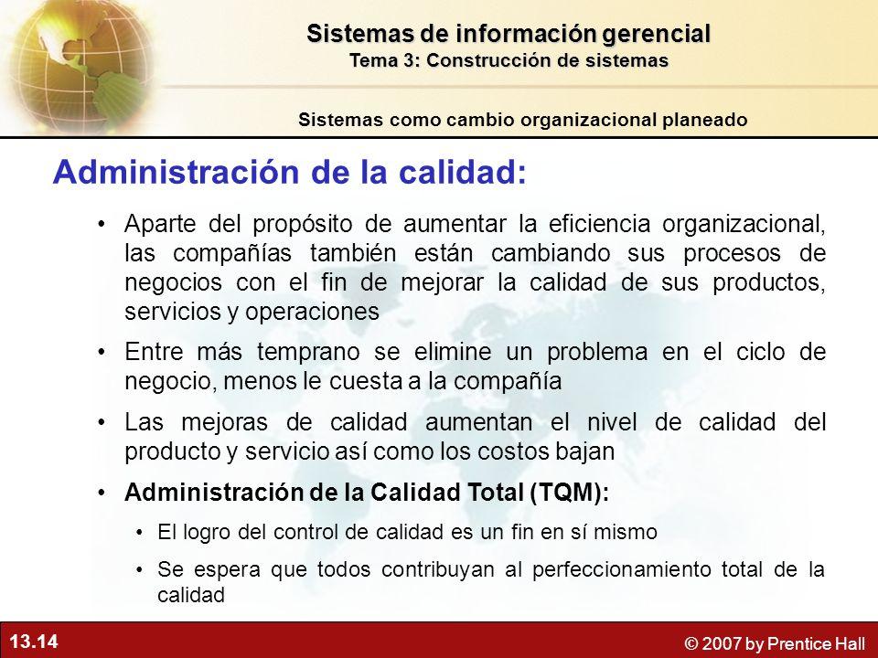 Administración de la calidad: