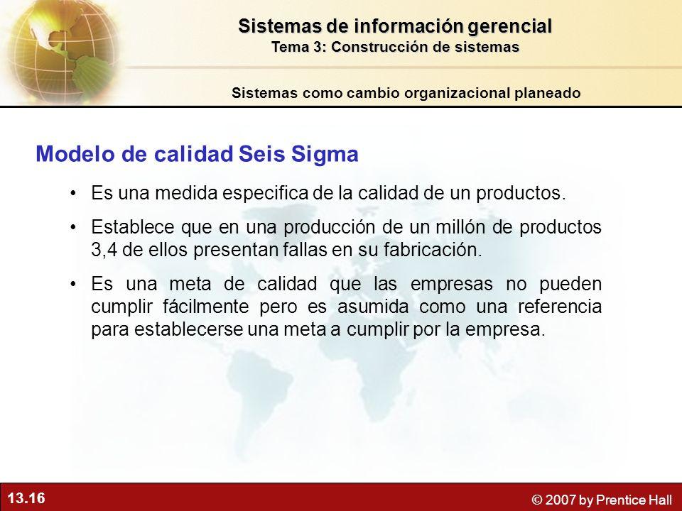 Modelo de calidad Seis Sigma