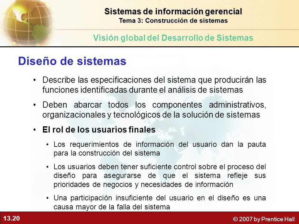 Diseño de sistemas Sistemas de información gerencial