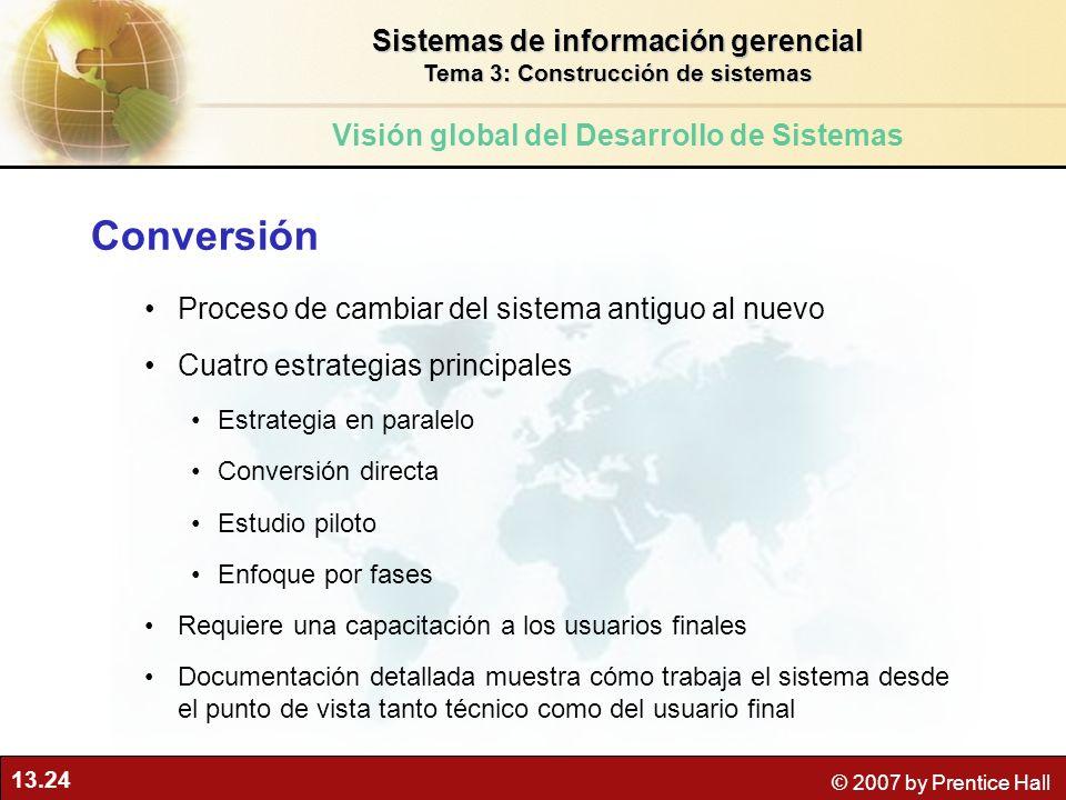 Conversión Sistemas de información gerencial