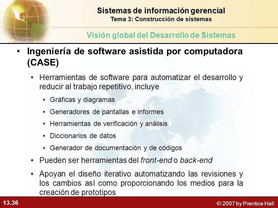 Ingeniería de software asistida por computadora (CASE)