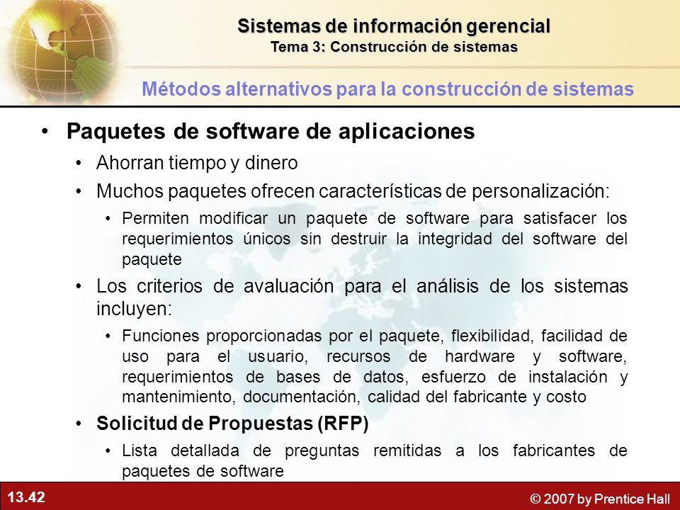Paquetes de software de aplicaciones