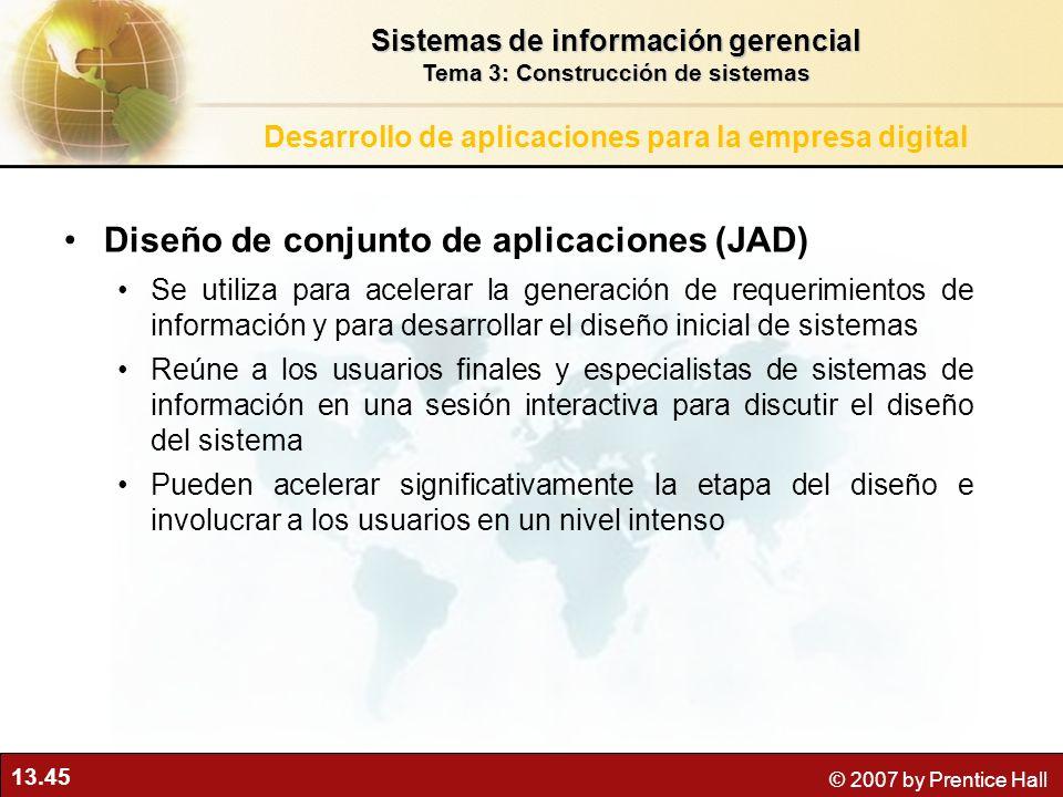 Diseño de conjunto de aplicaciones (JAD)