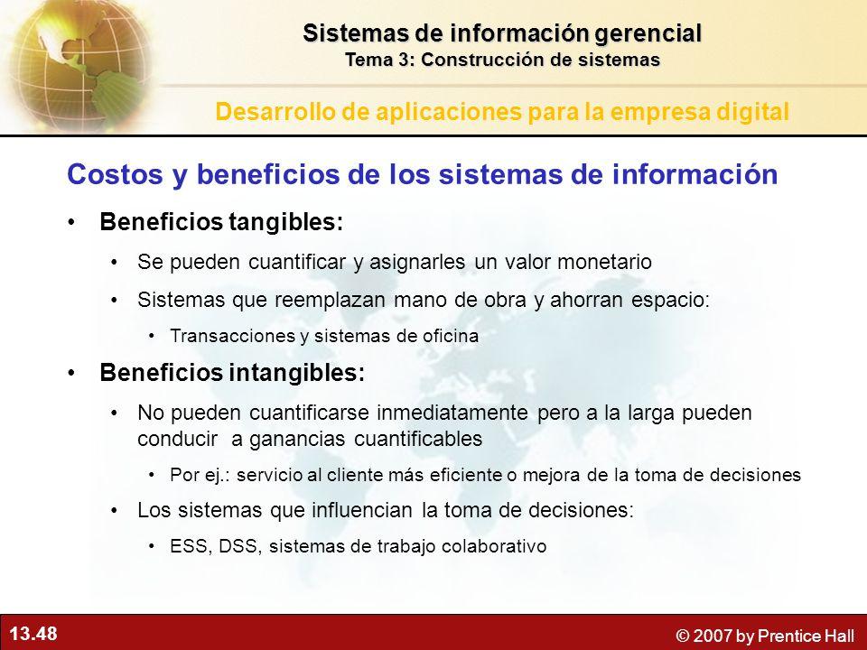 Costos y beneficios de los sistemas de información