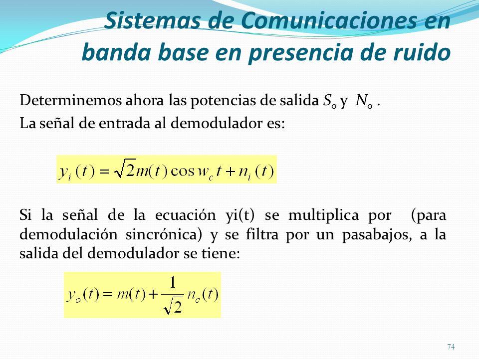 Sistemas de Comunicaciones en banda base en presencia de ruido