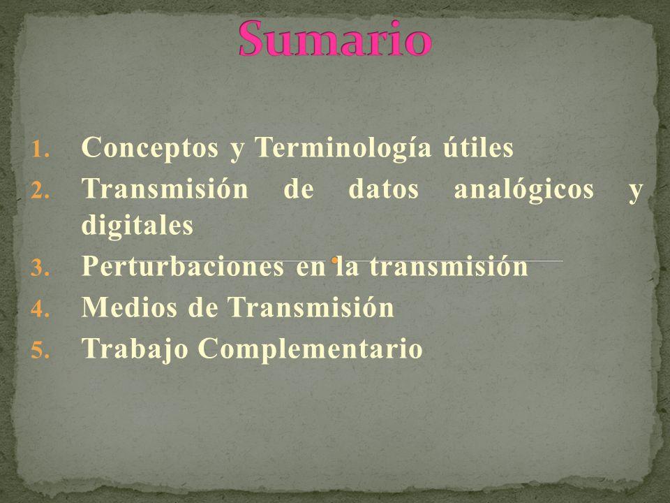 Sumario Conceptos y Terminología útiles