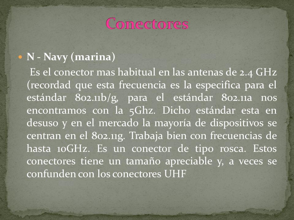 Conectores N - Navy (marina)