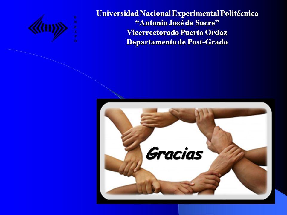 Gracias Universidad Nacional Experimental Politécnica