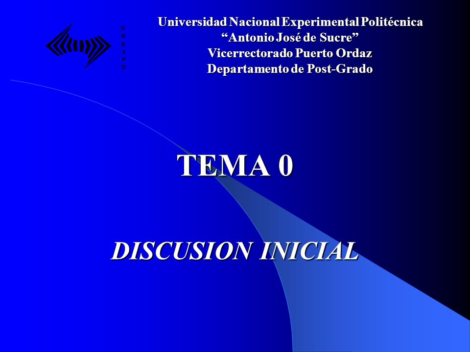 TEMA 0 DISCUSION INICIAL