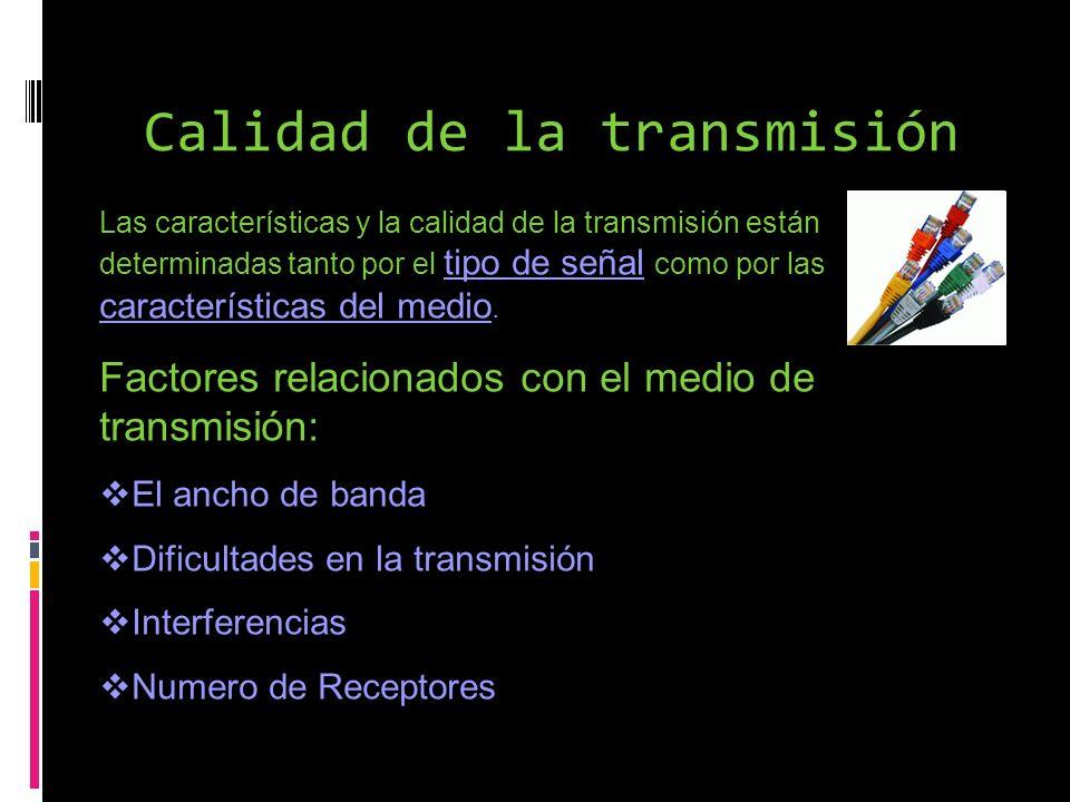 Calidad de la transmisión