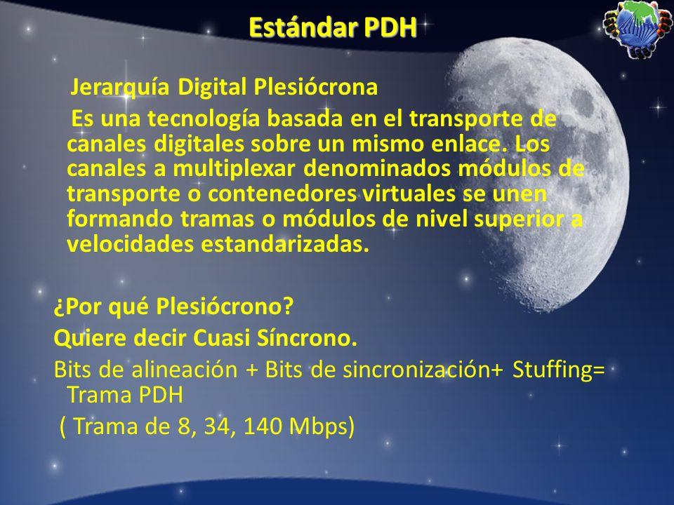 Estándar PDH Jerarquía Digital Plesiócrona