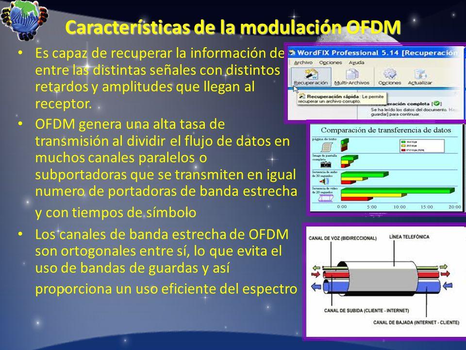 Características de la modulación OFDM