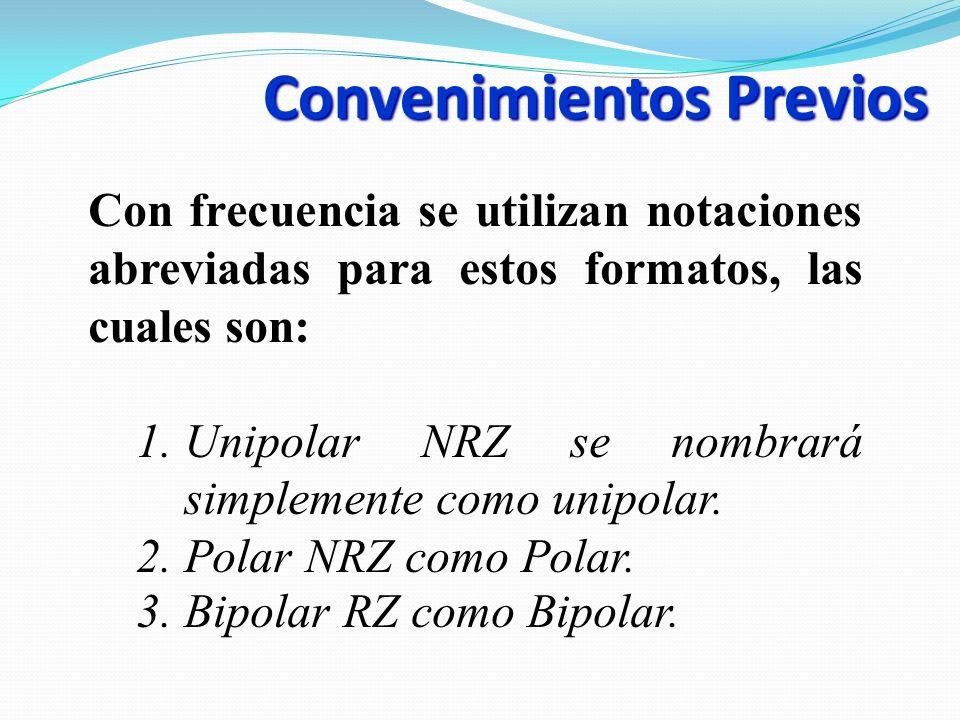 Convenimientos Previos