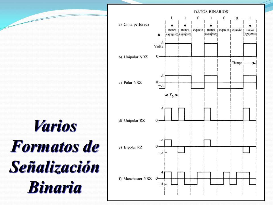 Varios Formatos de Señalización Binaria
