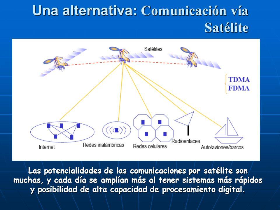 Una alternativa: Comunicación vía Satélite