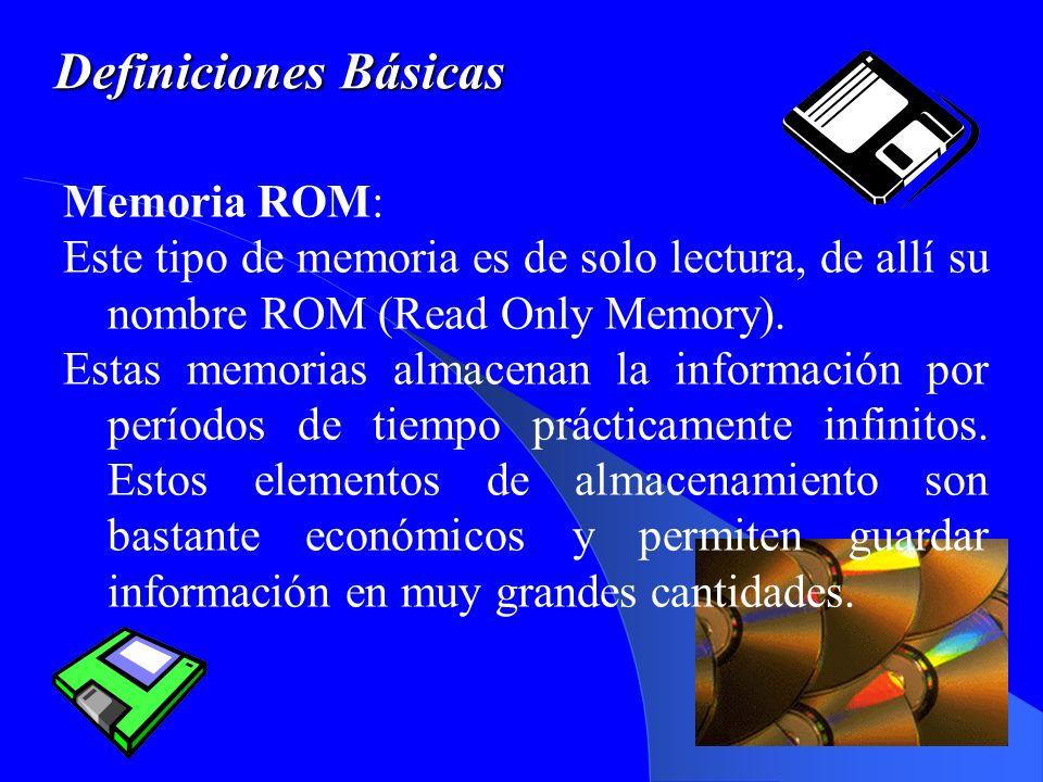 Definiciones Básicas Memoria ROM: