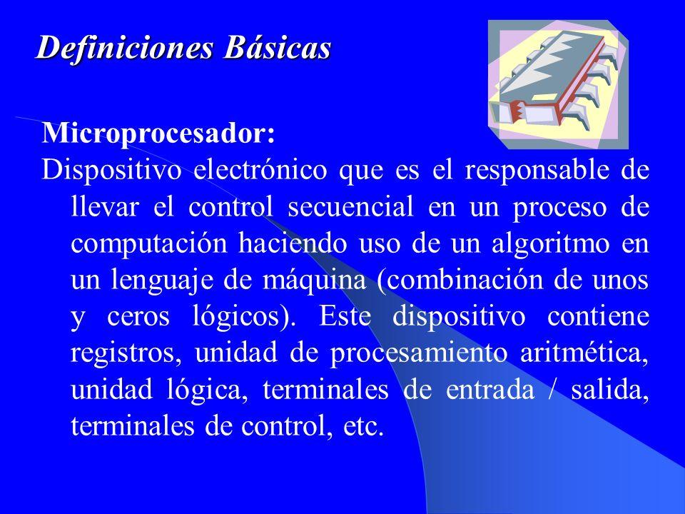 Definiciones Básicas Microprocesador: