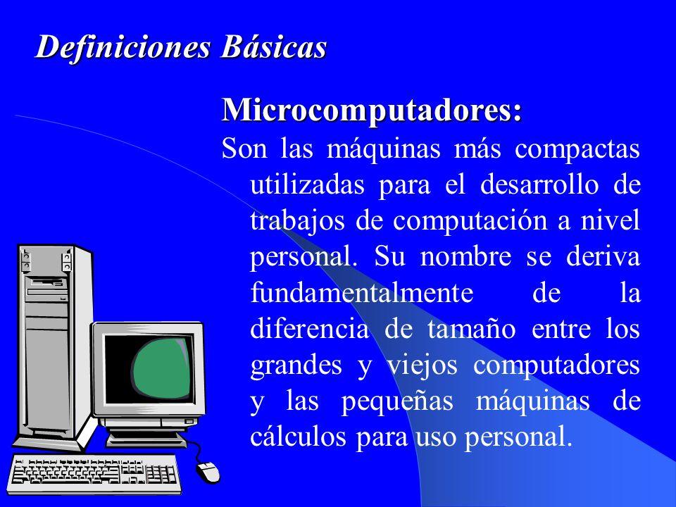 Definiciones Básicas Microcomputadores: