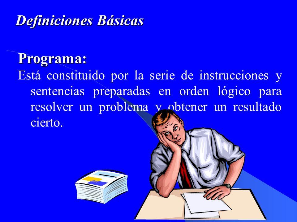 Definiciones Básicas Programa: