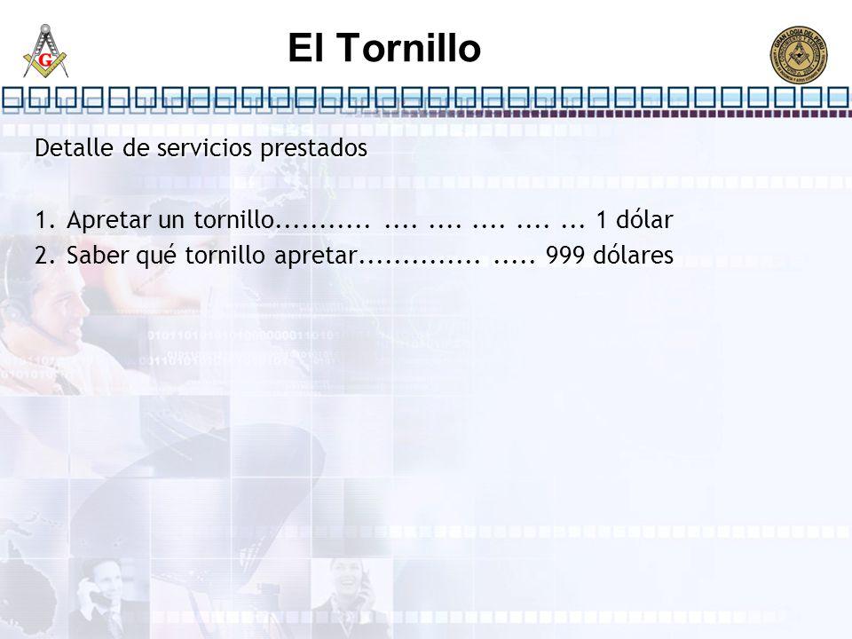 El Tornillo Detalle de servicios prestados