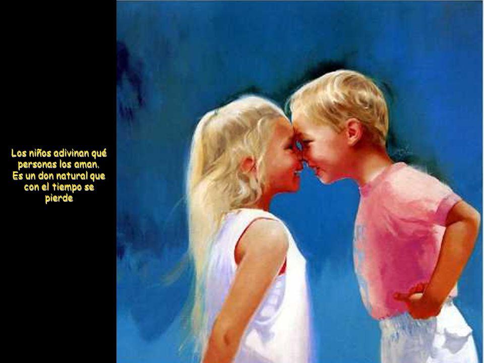 Los niños adivinan qué personas los aman.